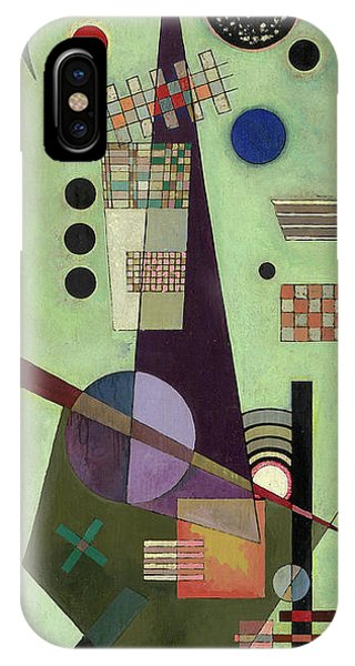 Visual Illusion iPhone Case - Extended - Ausgedehnt by Wassily Kandinsky