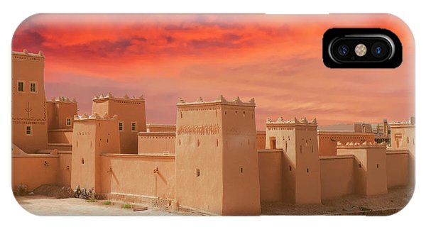 Exterior Buildings Of Kasbah Taourirt IPhone Case