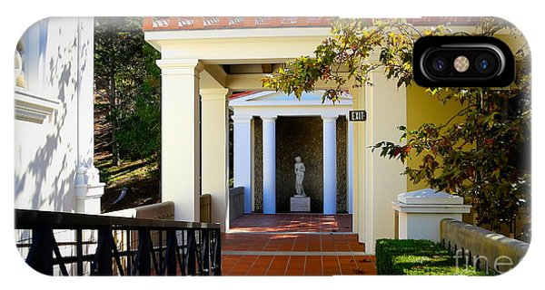 J Paul Getty iPhone Case - Exterior Courtyard Getty Villa I  by Chuck Kuhn
