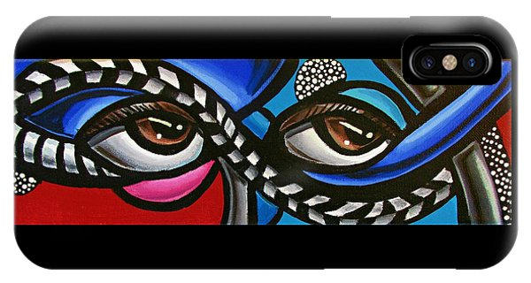 Eye Art Painting Abstract Chromatic Painting Electric Energy Artwork IPhone Case