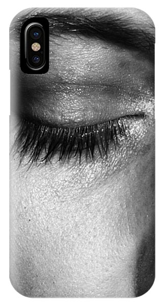 IPhone Case featuring the photograph Eye, Closed  by Edward Lee