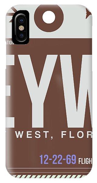 Travel iPhone Case - Eyw Key West Luggage Tag II by Naxart Studio