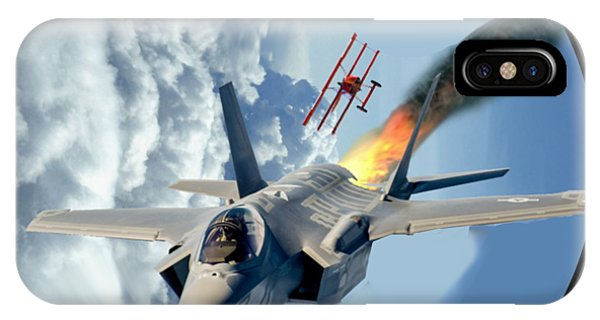F-35 Vs The Red Baron IPhone Case