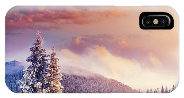 White Mountains iPhone Case - Fabulous Winter Landscape In The by Standret