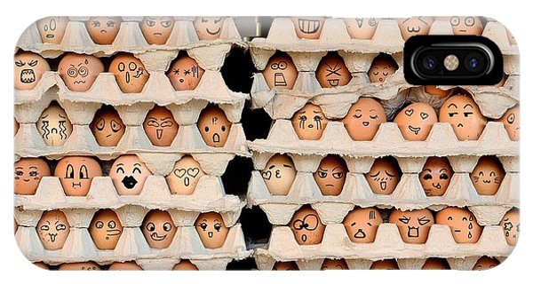 Eggs iPhone Case - Faces On The Eggs. Differences Faces by Kemal Taner