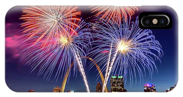 IPhone Case featuring the photograph Fair St. Louis Fireworks 6 by Matthew Chapman