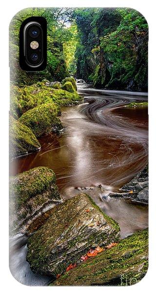 Fairy Glen iPhone Case - Fairy Glen Gorge by Adrian Evans