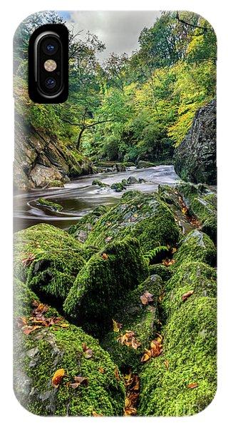 Fairy Glen iPhone Case - Fairy Glen Snowdonia by Adrian Evans