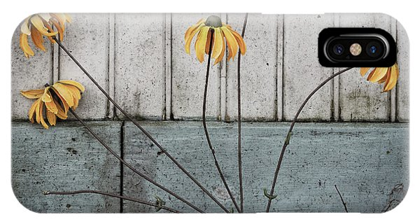 IPhone Case featuring the photograph Fake Wilted Flowers by Steve Stanger