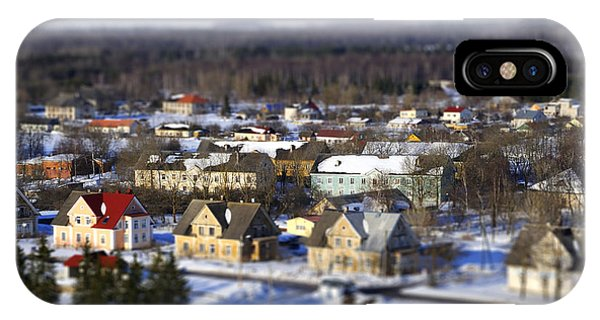 Culture iPhone Case - Faked Tilt Shift City In Estonia by Tatjana Kruusma