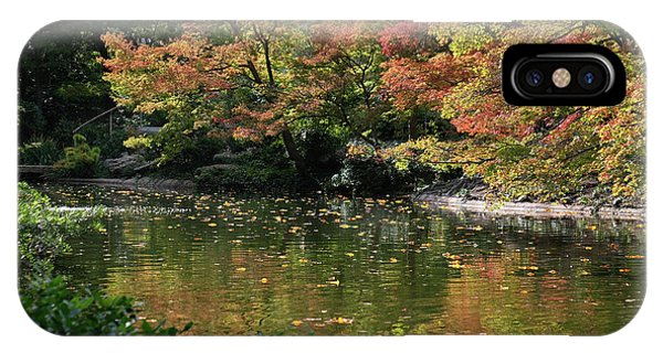 IPhone Case featuring the photograph Fall At The Japanese Garden by Ricardo J Ruiz de Porras