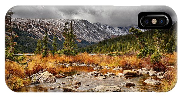 Indian Peaks Wilderness iPhone Case - Fall Finale by Eric Glaser