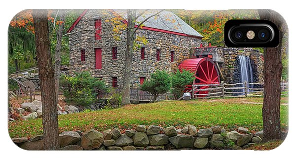 Fall Foliage At The Grist Mill IPhone Case