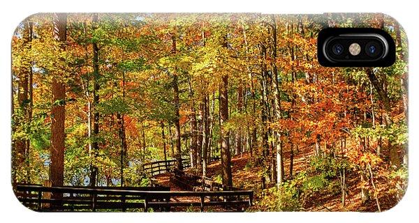 Fall Hike At Mirror Lake IPhone Case