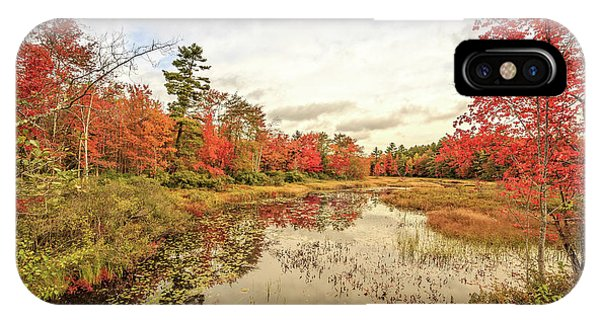 New England Fall Foliage iPhone Case - Fall In New England Grantham Nh by Edward Fielding