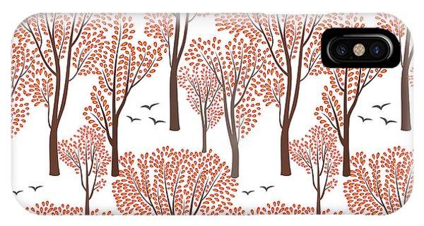 Lush iPhone Case - Fall Nature Wildlife Seamless Pattern by Yoko Design