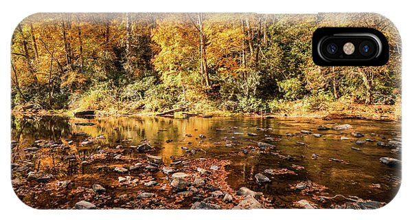 Appalachian Mountains iPhone Case - Fall On The River by DiFigiano Photography