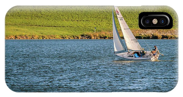 IPhone Case featuring the photograph Fall Sunday Sail by Edward Peterson