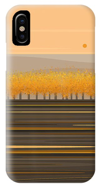Fall Trees In A Row IPhone Case