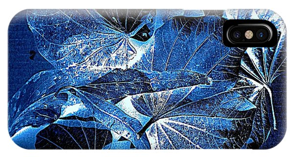IPhone Case featuring the photograph Fallen Leaves At Midnight by VIVA Anderson