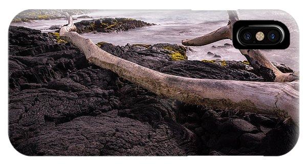 Fallen Tree At Punalu'u Beach IPhone Case