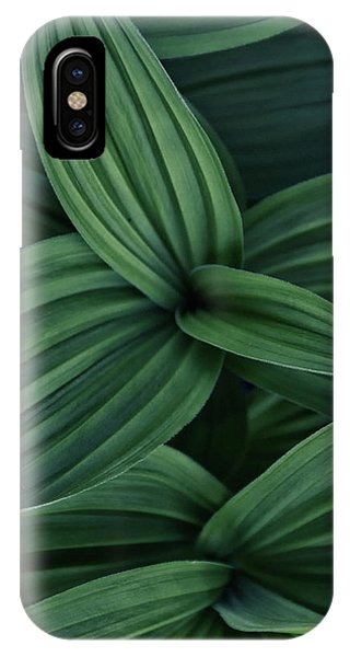 IPhone Case featuring the photograph False Hellebore Plant Abstract by Nathan Bush