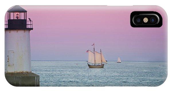 Fame At Sunset On Salem Harbor IPhone Case