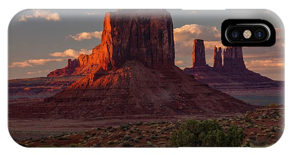 Famous Buttes Of Monument Valley Phone Case by Adam Jones