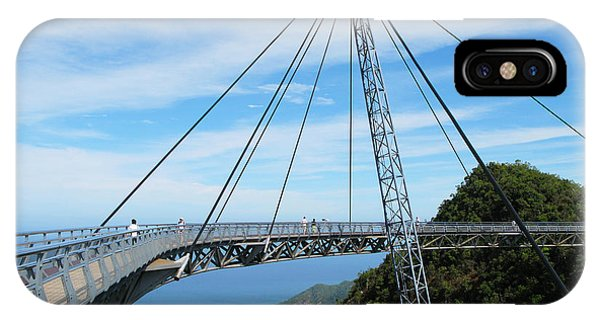 View Point iPhone Case - Famous Hanging Bridge Of Langkawi by Alexander Chaikin