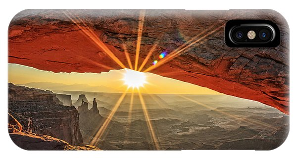 United States iPhone Case - Famous Sunrise At Mesa Arch In by Prochasson Frederic