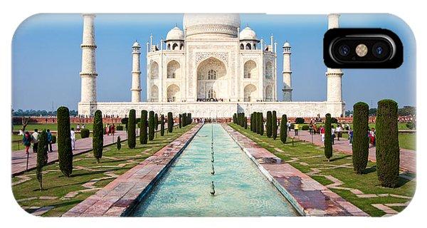 Famous Taj Mahal Mausoleum In In Bright Phone Case by Mikhail Varentsov