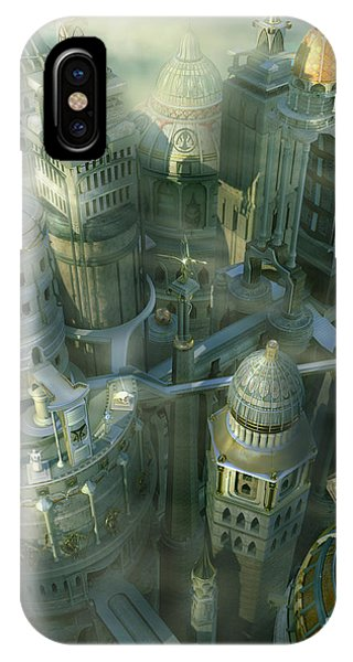 Past iPhone Case - Fantasy 3d City Form Past To Future by Alex Mit