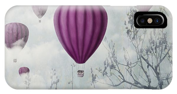 Hot iPhone Case - Fantasy Artistic Image Of Pink Hot Air by Hitdelight