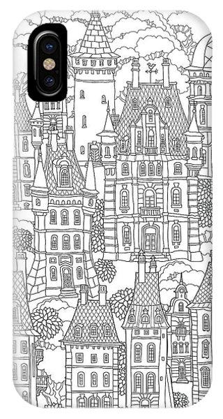 Vector Graphics iPhone Case - Fantasy Landscape. Fairy Tale Castle by L. Kramer