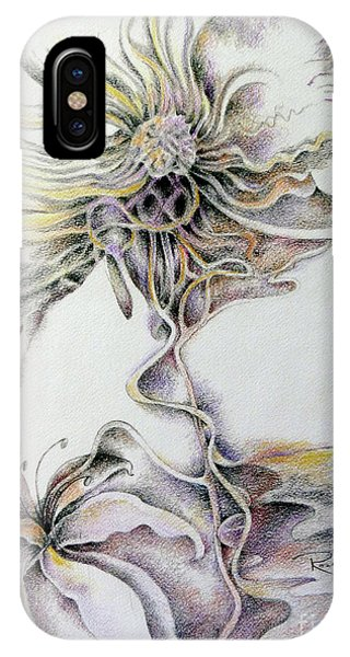 IPhone Case featuring the drawing Fantasy by Rosanne Licciardi