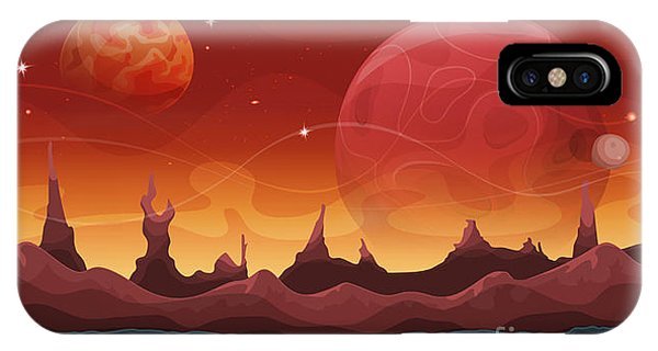 Space iPhone Case - Fantasy Sci-fi Martian Background For by Benchart