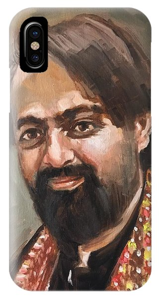 IPhone Case featuring the painting Farhan Shah by Nizar MacNojia