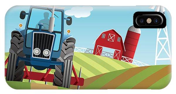 Strength iPhone Case - Farm Background by Nikola Knezevic
