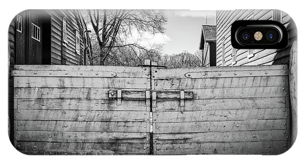 IPhone Case featuring the photograph Farm Gate by Steve Stanger