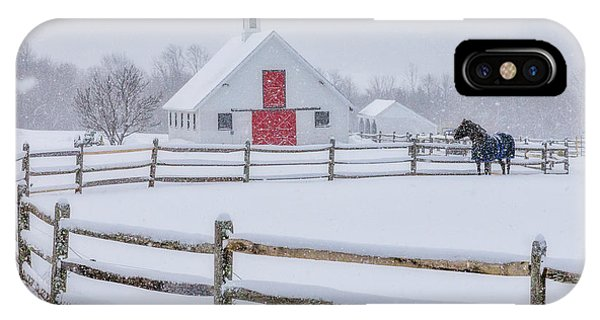Farm In The Snow IPhone Case
