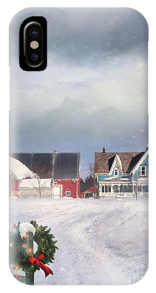 Farmhouse On Cold Winter Day IPhone Case