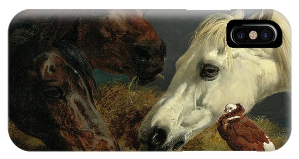 Plowing iPhone Case - Farmyard Friends, 19th Century by John Frederick Herring