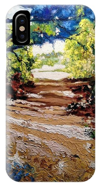 IPhone Case featuring the painting Fascinating Trail by Ray Khalife
