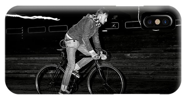 Fashion Man On The Fixed Gear Bike Phone Case by Hrynevich Yury