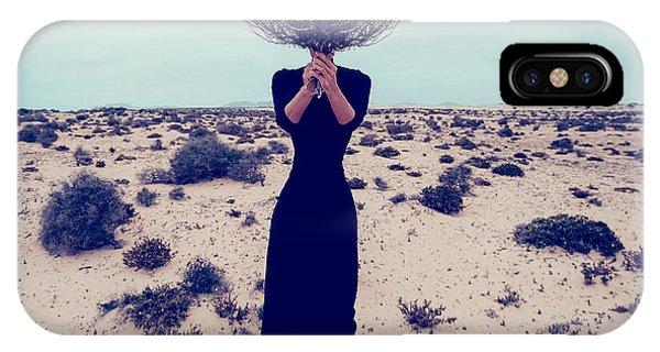 Adult iPhone Case - Fashion Photo. Girl In The Desert With by Evgeniya Porechenskaya
