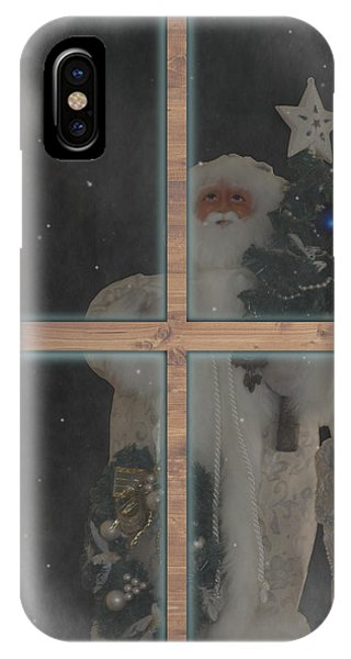 Father Christmas In Window IPhone Case