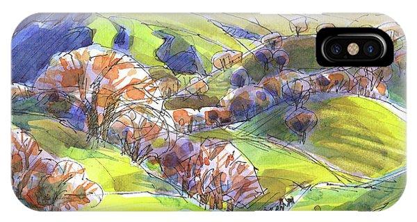 February Landscape With Mount Diablo IPhone Case