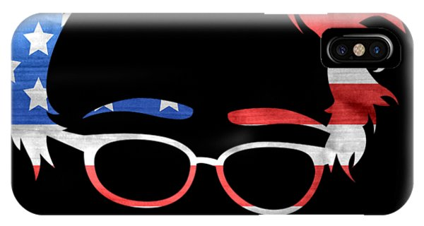 IPhone Case featuring the digital art Feel The Bern Patriotic by Flippin Sweet Gear