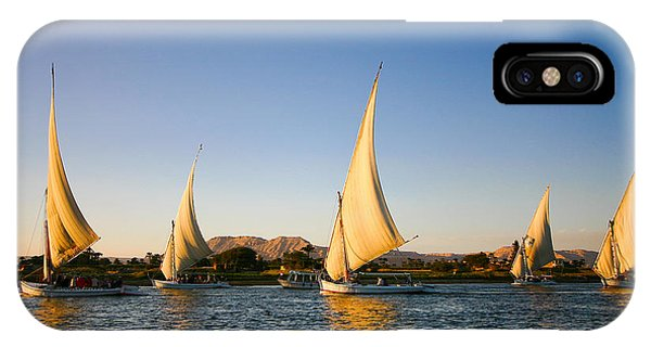 Egyptian iPhone X Case - Felucca On The Nile River by Jeffrey Liao