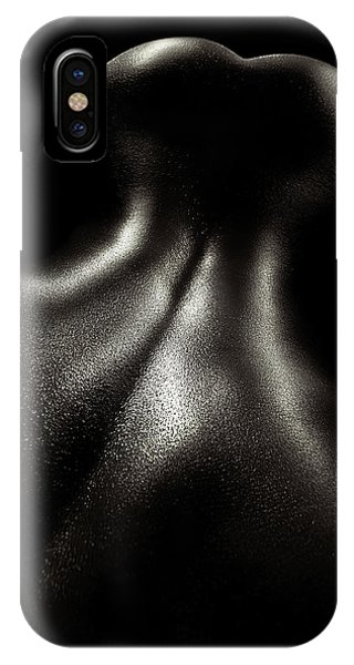 Abstract Figurative iPhone Case - Female Nude Oil 4 by Johan Swanepoel